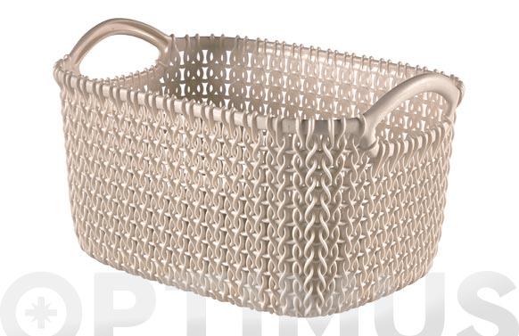 Cesta rectangular knit xs arena 3 l