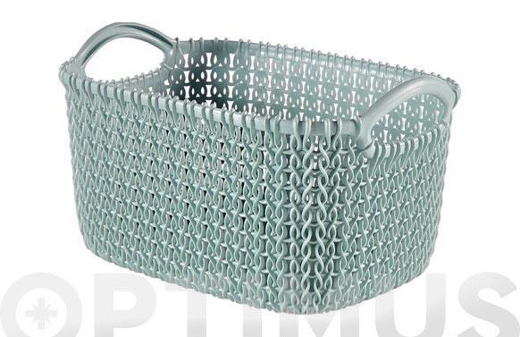 Cesta rectangular knit xs azul bruma 3 l