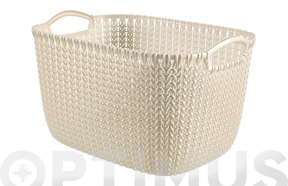 Cesta rectangular knit l blanco oasis 19 l