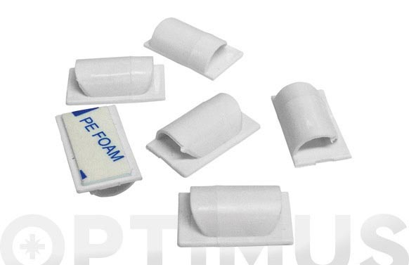 Clips para cable adhesivos 6 unidades