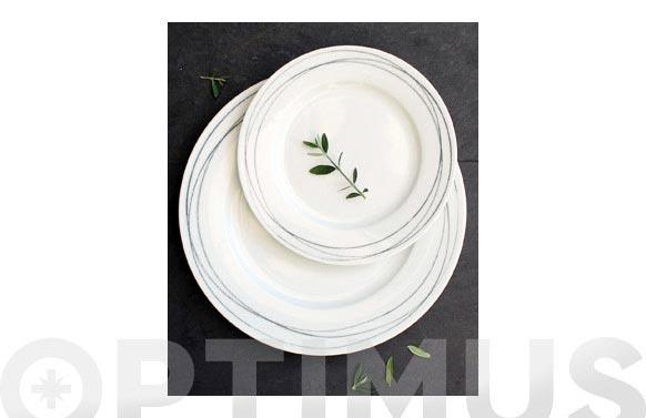 Vajilla porcelana 19 piezas syros