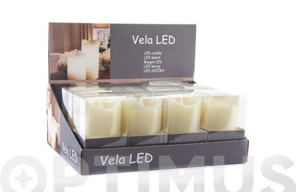 Vela led pvc 7,5 x 10 cm