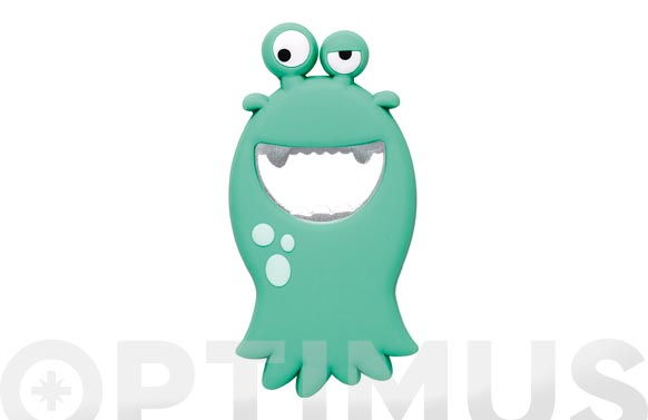 Abrebotellas pvc monster turquesa