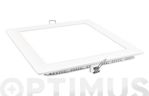 Downlight led empotrar cuadrado blanco 18w 1800 lm fria (6400k)