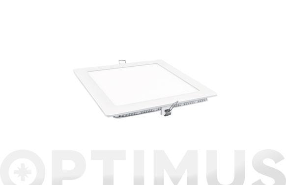 Downlight led empotrar cuadrado blanco 18w 1600 lm neutra (4000k)