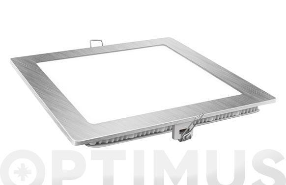 Downlight led empotrar plata cuadrado 18 w 1800 lm fria (6400k)