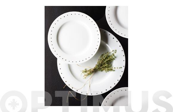 Vajilla 19 piezas porcelana hydra-puntos