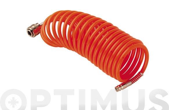 Manguera espiral nilon 6 x 8 mm 5 m