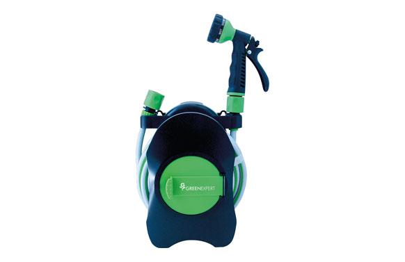 Enrollador manguera mini con manguera y accesorios