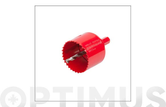 Sierra corona bimetal multimaterial con vastago ø 54 mm
