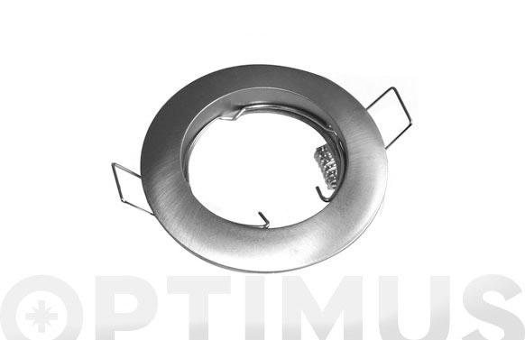 Aro circular fijo ø78 corte 55mm niquel mate (gu10 incl)