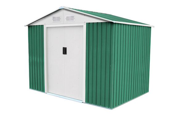 Caseta metalica verde cambridge 4.72m2 l261 x f181 x h198 cm