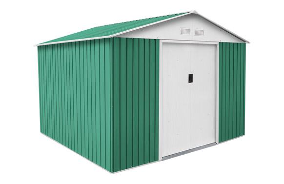 Caseta metalica verde bristol 7.74m2 l321 x a241 x h205 cm