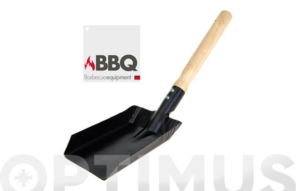 Pala barbacoa carbon 37 x 9,5 cm negra