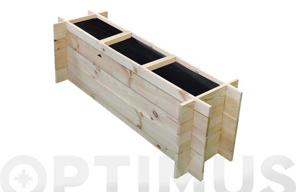 Huerto urbano madera  pomelo  sin tratamiento 100/113 x 27,2/37,5 x  h 36 cm