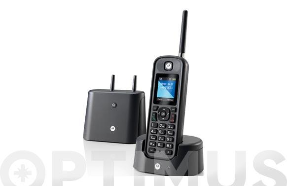 Telefono inalambrico largo alcance negro