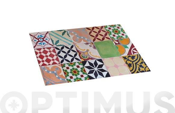 Alfombra vinilica croma mosaico color 45 x 75 cm