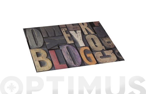 Alfombra vinilica croma 45x75 cm wood letras