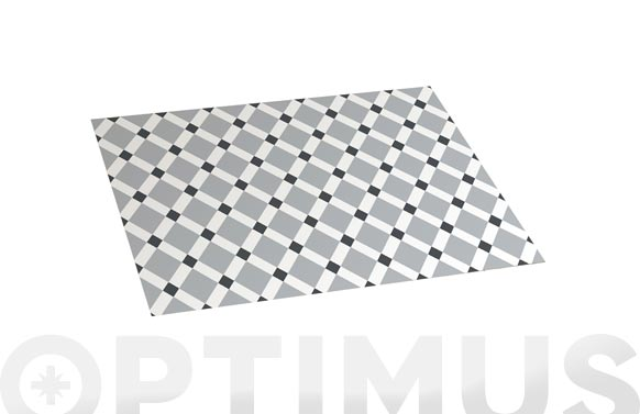 Alfombra vinilica croma 45x75 cm gres blanco/gris