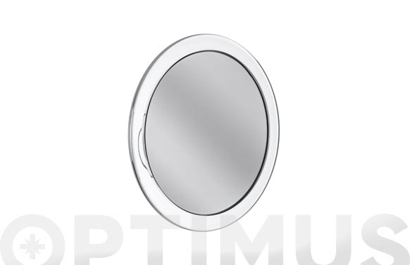 Espejo baño nerta con ventosas aumento x8 ø 15 cm