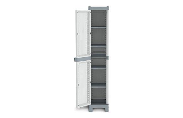 Armario resina taquillero 4 estantes wave gris 181,8 x 35 x 43,8 cm