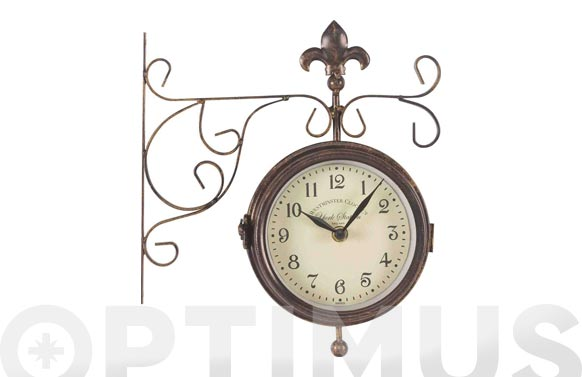 Reloj doble cara con termómetro