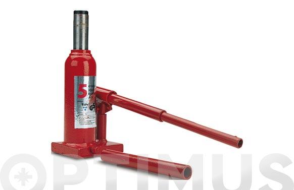 Gato hidraulico botella 5 toneladas altura de elevacion de 195 hasta 380 mm