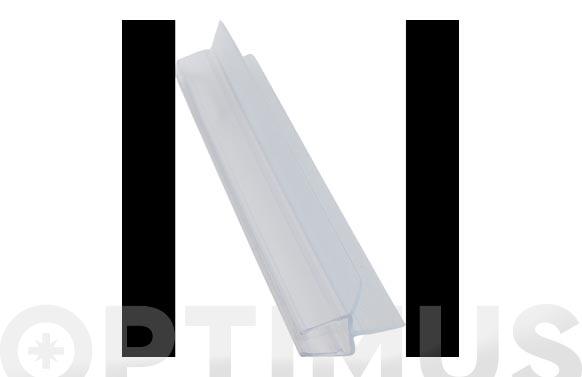 Perfil vierteagua mampara baño/ducha 11,5mm/6-8mm/2mt