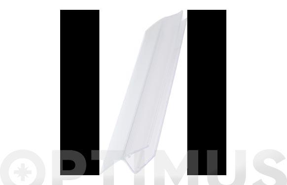 Perfil junta mampara baño/duccha 13mm/6-8mm/2mt