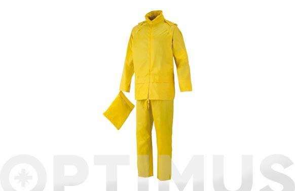 Conjunto lluvia poliester pvc amarillo t xl