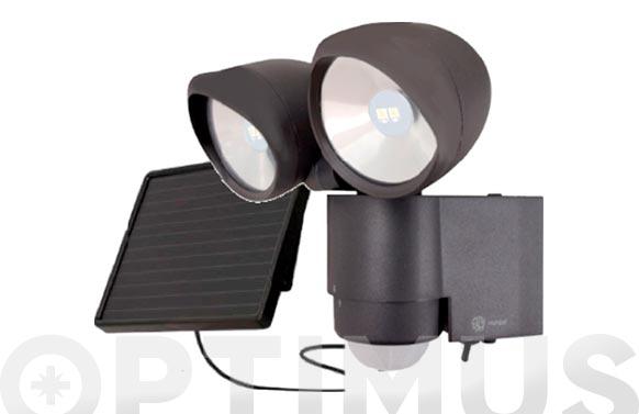 Kit solar + protector led con detector solartwain black