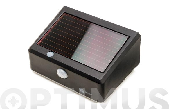 Led solar con detector de movimiento solarwall black