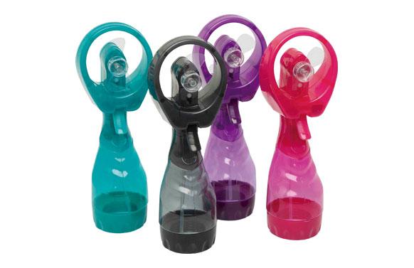 Ventilador spray agua nebulizada a pilas colores surtidos