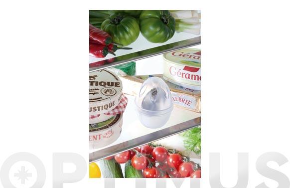 Ambientador ecologico zilofresh huevo nevera transparente/blanco