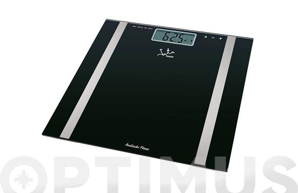 Bascula baño digital mide grasa cristal negro