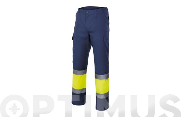 Pantalon alta visibilidad bicolor t m marino / amarillo