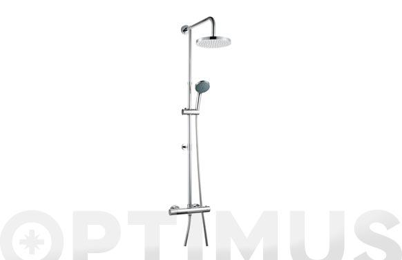 Conjunto ducha con grifo termostatico rociador ø 20