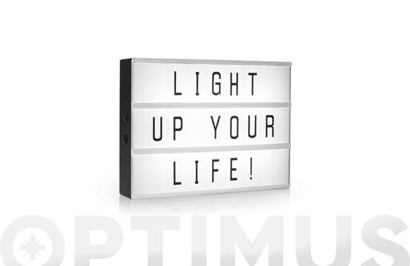Lampara led box incluye juego de letras a4