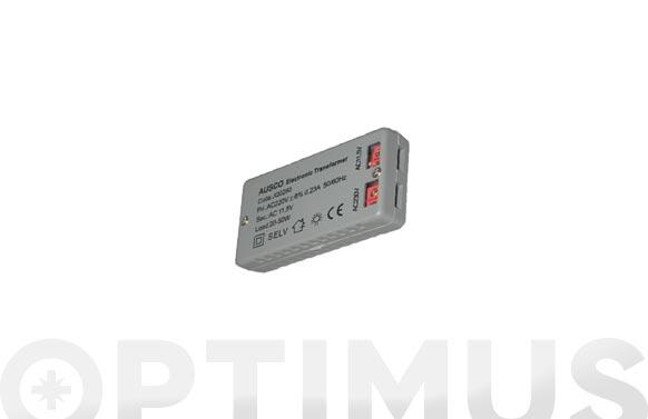 Transformador electronico para dicroicas 12 v 20/60w