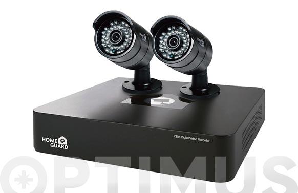 Circuito seguridad ip 720p 2 camaras