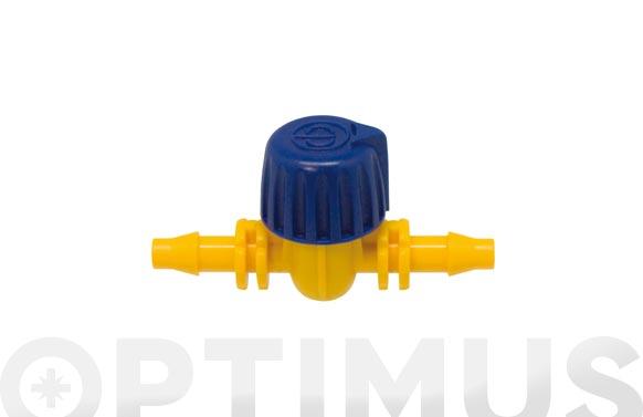 Llave microtubo goteo 4mm  2 unidades