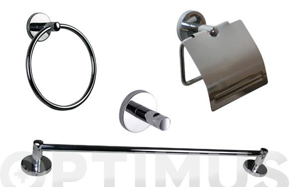Juego baño pared inox b-smart 5 piezas