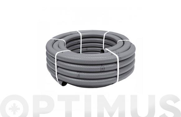 Tubo flexible evacuacion pvc gris ø 32 mm 25 mt