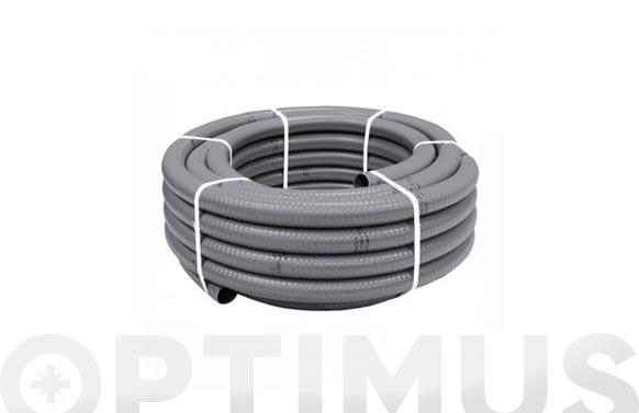 Tubo flexible evacuacion pvc gris ø 50 mm 25 mt