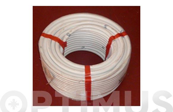 Tubo flexible aire acondicionado pvc blanco ø 16 mm 50 mt