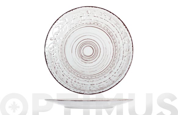 Plato stoneware courtyard blanco llano-27,5 cm