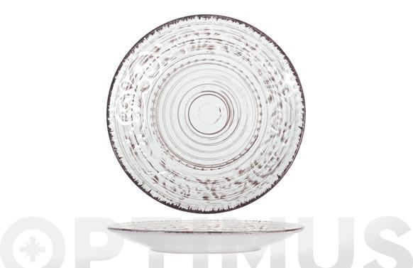 Plato stoneware courtyard blanco postre-21 cm