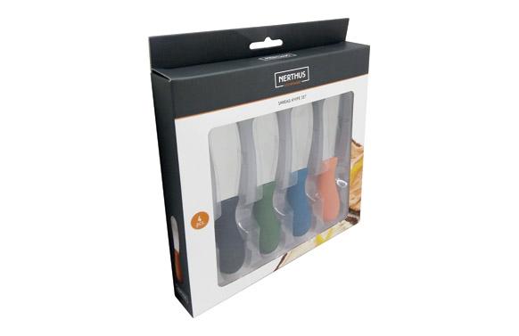 Cuchillos para untar set 4 uds colores
