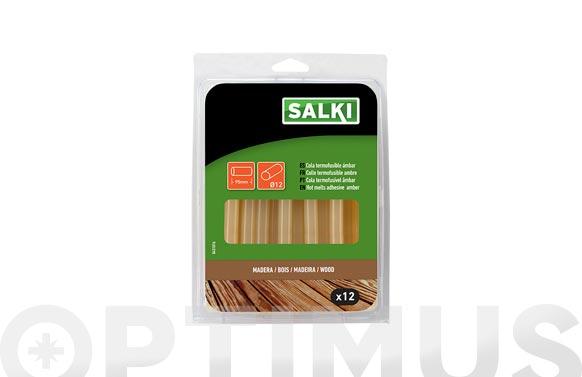 Adhesivo termofusible barra 12 uds ø 11.95 x 95 mm marron