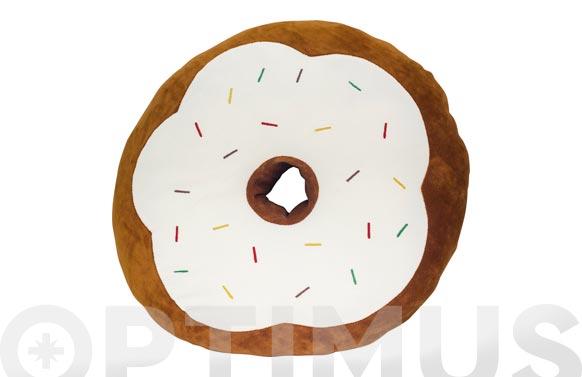 Cojin yummy marron-donut